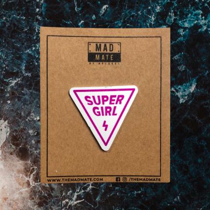 MM1165 SUPER GIRL Metal Pin
