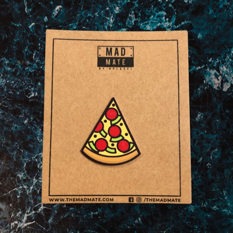 MM1212 Pizza Slice Metal Pin