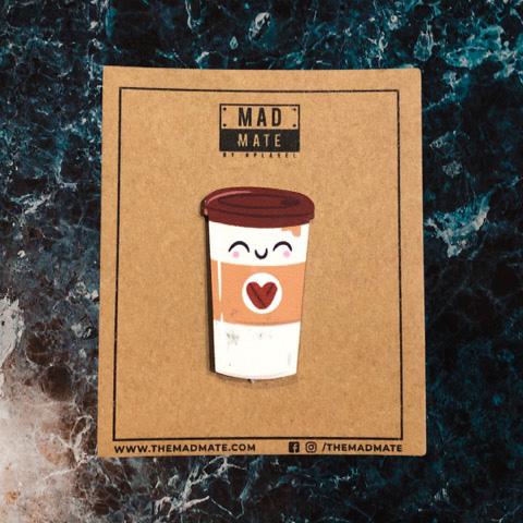 MM1218 Mocha Coffee Metal Pin