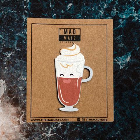 MM1219 Macchiato Coffee Metal Pin