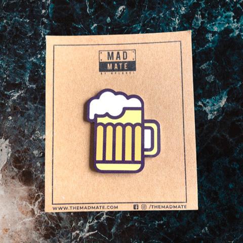 MM1258 Beer Mug Metal Pin